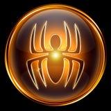 Virus icon golden Stock Images