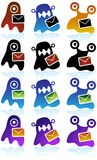 Virus Icons Stock Photo