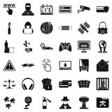 Virus icons set, simple style Royalty Free Stock Photography
