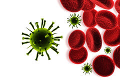 Virus infection of blood cells Royalty Free Stock Photos