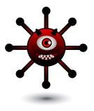 Virus-Karikatur-Illustration Stockfotos