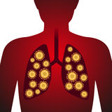 Virus in lung, image illustration Stock Photos