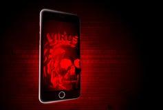 Virus móvil Fotografía de archivo libre de regalías
