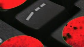 'VIRUS' Macroecu dolly van het Toetsenbordbrieven van de bewegingscomputer de werktijd 'virus' royalty-vrije illustratie