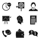 Virus marketing icons set, simple style. Virus marketing icons set. Simple set of 9 virus marketing vector icons for web isolated on white background Royalty Free Stock Photo