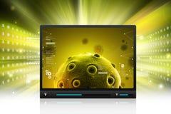 Virus mobile à l'arrière-plan multi de couleur Photo stock