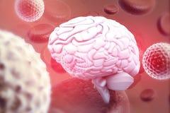 Virus que ataca el cerebro humano libre illustration