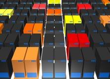 Virus que separa los servidores de base de datos corrompidos stock de ilustración