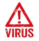 Virus. A red stamp on a white background - Virus Royalty Free Stock Photo