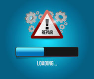 Virus reparation update concept Royalty Free Stock Image