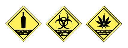 Virus rilevato Immagine Stock
