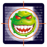 Virus scan Royalty Free Stock Images