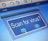 Virus scan concept. Stock Image