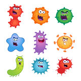 Virus. Set of germs and virus vector illustrations Royalty Free Stock Photography
