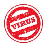 Virus Stamp Royalty Free Stock Photography