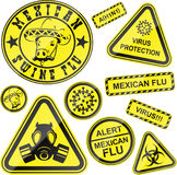 Virus stickers Stock Photography