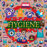 Virus tell hygiene important seamless pattern Royalty Free Stock Photos