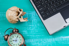 virus to my computer and skull meaning of danger Stock Photography
