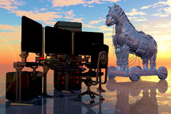 Virus Trojan Fotografia Stock Libera da Diritti