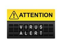 Virus Waakzame Waarschuwing royalty-vrije illustratie