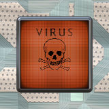 Virus warning Royalty Free Stock Photo