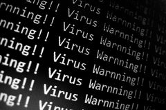 Virus Warning Stock Images