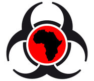Virus warning sign icon. Ebola virus sign isolated on white background,vactor illustration Royalty Free Stock Photo