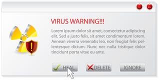 Virus warning window Royalty Free Stock Image