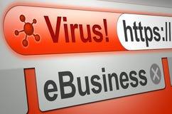 Virus-Warnung stockfotografie
