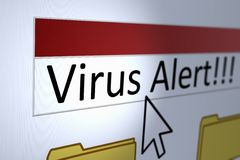 Virus-Warnung Stockbilder