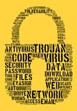 Virus word cloud concept Royalty Free Stock Image