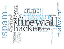 Virus word cloud Royalty Free Stock Image