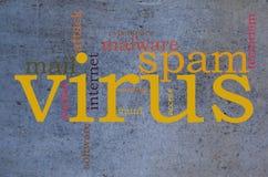 Virus word cloud Stock Photography