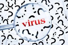 Virus word Royalty Free Stock Photos