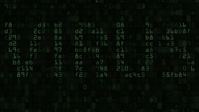 VIRUS caption on the computer screen made of text and numeric symbols. 3D rendering Stock Images