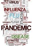 Virus-Wortwolke der Grippe H1N1 stock abbildung