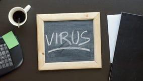 Virus written Royalty Free Stock Photography