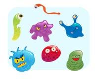 Virus y ejemplo fijado bacterias del vector stock de ilustración