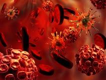 Virus y glóbulos Fotografía de archivo