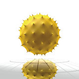 Virus yellow cell Royalty Free Stock Photo