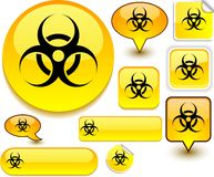 Virus yellow signs. Stock Photography