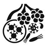 Virusalveolsymbol, enkel stil vektor illustrationer