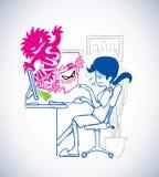 Virusattack Arkivfoto