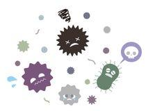 Virusbacteriën royalty-vrije illustratie