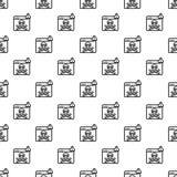 Viruscomputer-Gefahrenmuster nahtlos lizenzfreie abbildung