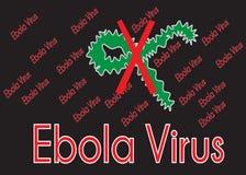Viruse de Ebola Imagem de Stock