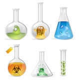 Viruses and bacteriums Royalty Free Stock Images
