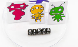The viruses in the form of the concept Royalty Free Stock Photo