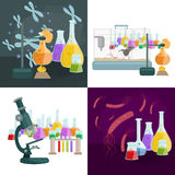 Viruses in infected organism , viral disease epidemic , Vaccine research Royalty Free Stock Photos