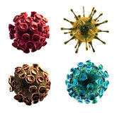Viruses isolated on white background. Detailed 3d illustration of 4 Viruses isolated on white background Stock Photos
